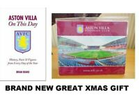 ASTON VILLA Brand New official MOUSE MAT and BOOK BRAND NEW
