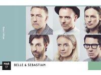 Belle & Sebastian, 2 sitting tickets, 17 March