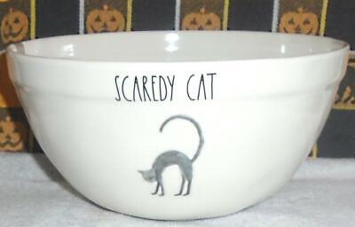 "Black SCAREDY CAT~NEW LL Large 8"" Candy Treat Bowl~Rae Dunn HALLOWEEN Magenta"