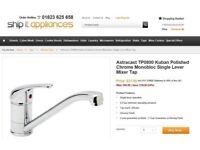 Brand New Chrome Single Lever Kuban TP0800 Tap Set Cost £30