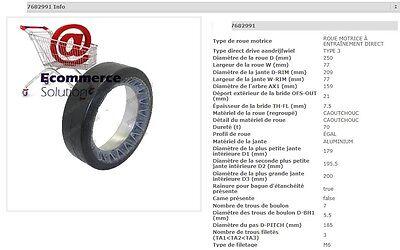 Wheel Cogs Rubber Pramac Lifter Gx1225 250 159 3 132in Pallet Truck Stacker