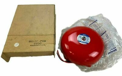 Amseco Msb-8b-pv4 Red Fire Alarm Bell 6v Dc New