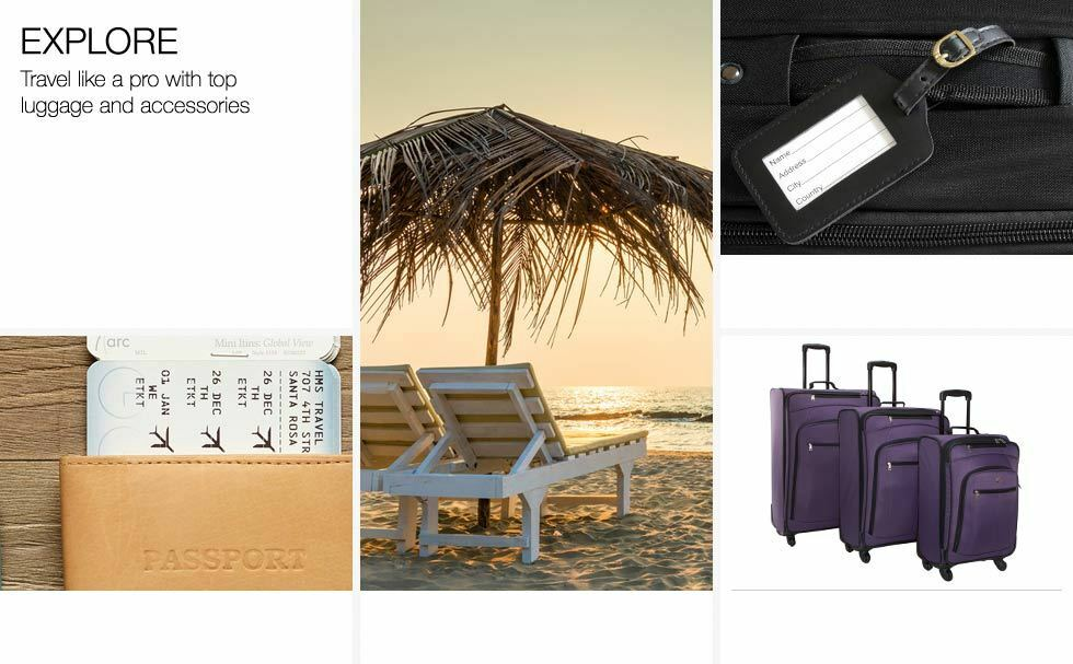 Explore. Travel like a pro with top luggage and accessories.