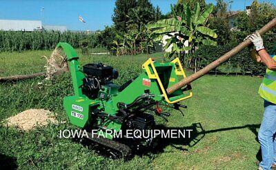 Peruzzo Tb100c Pro Palm Frond Shredderwood Chipper Self-power Hyd Roller Feed