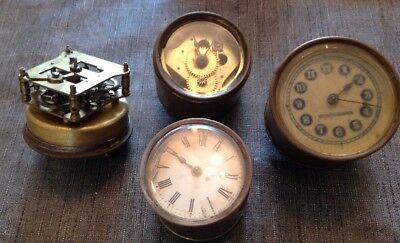 Antique Clocks Twist Wind Case Wound Drum Style To Collect Repair Or Spare Parts
