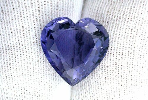 4.70 Carat AAA 12.4mm Heart Natural Tanzanian Africa Iolite Gemstone EBS2129