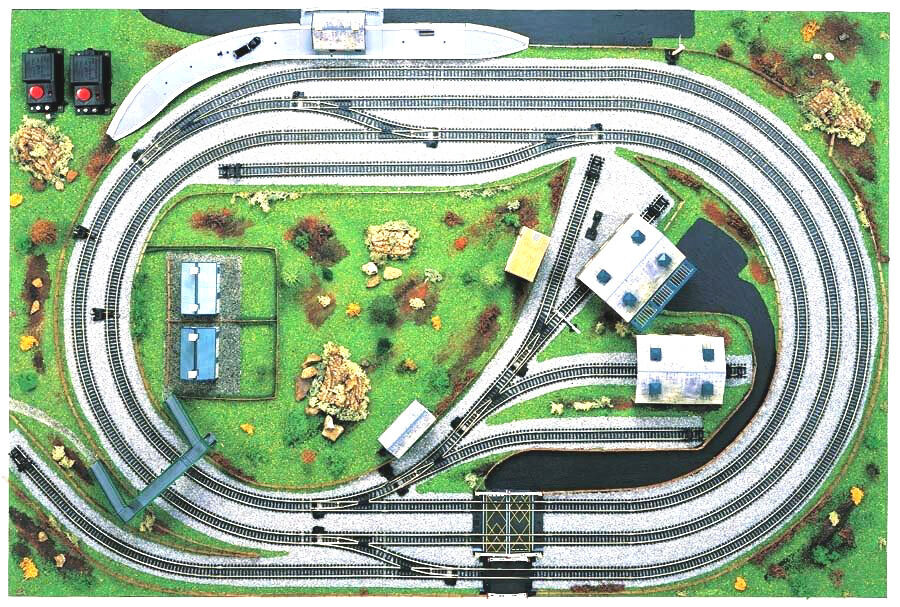 Hornby Trains Sets Track Track Mat And Buildings In