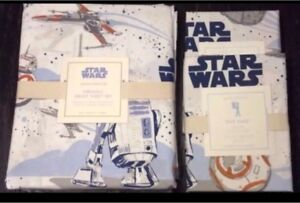 Pottery Barn Kids STAR WARS Sheets/Cases QUEEN Retail $246 SALE