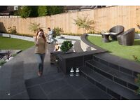 6 sq metres of Marshalls Symphony Vitrified Paving Slabs in Dark Grey