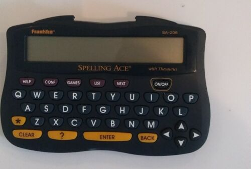 Franklin Spelling Ace with Thesaurus Model SA-206 Tested Includes New Batteries