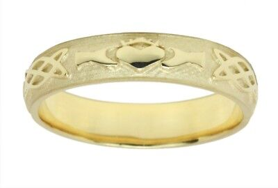 Men's Sterling Silver Or Yellow Gold Irish Celtic Claddag...