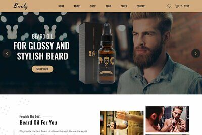 Beard Store Professional Dropshipping Website Ready-made Business For Sale