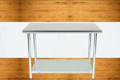 30 X 48 In. Stainless Steel Work Prep Table With Undershelf Kitchen Restaurant