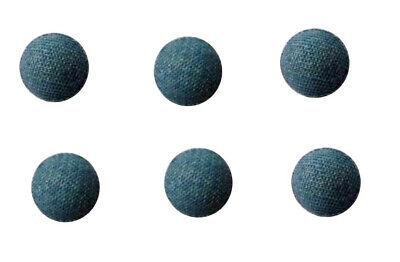 Lederknopf Lederknöpfe Halbkugel 15 mm schwarz  Echtleder bezogen
