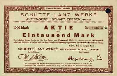 Schütte Lanz Werke 1923 Zeesen Wusterhausen Brühl Mannheim Zeppelin Luftschiff #