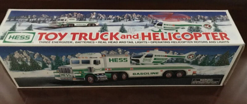 1995 Hess Truck And Helicopter New In Box