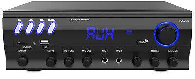 Audibax Zero 500 Amplificador HiFi Bluetooth Karaoke con entrada de 2 Micros...