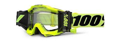 100 % Prozent Accuri Forecast MX Motocross Cross Brille neon gelb Roll Off