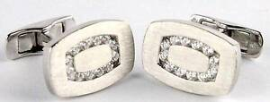 Men's 14ct white gold Rosendorff cufflinks with 12 diamonds Morley Bayswater Area Preview
