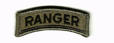 RANGER TAB - SUBDUED COLOR BLACK ON OLIVE CLOTH