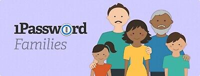 1Password Families 1 Year Account - the best family password (The Best Password Manager)