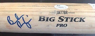Brendan Rodgers Game Used Autographed Rawlings Big Stick Pro Baseball Bat JSA Colorado Rockies Big Stick