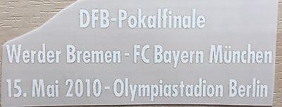 Match Details DFB Pokal Finale 2010 SV Werder Bremen - FC Bayern Print Cup Final