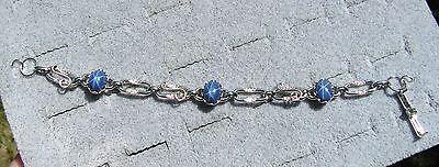 Linde Lindy Cornflower Blue Star Sapphire Created Bracelet Npm Second Quality