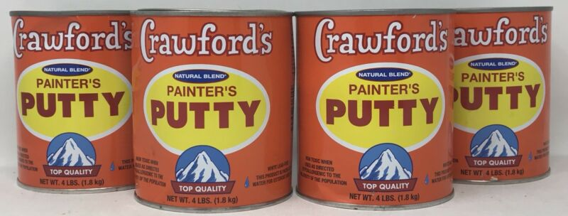 Lot of 4! Crawford Products 31604 Quart Natural Blend Painters Putty