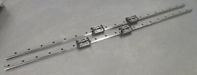 C176200 Lot 2 Thk 1149mm Linear Slide Rails W 4 Gsr20t Bearing Blocks