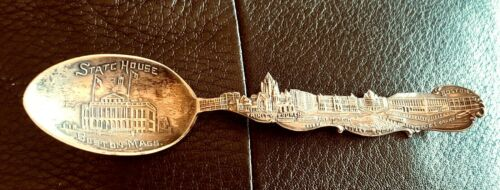 Boston Massachusetts Sterling Skyline Souvenir Spoon