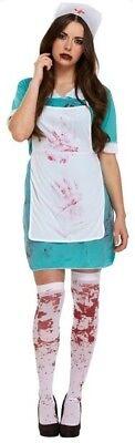 Damen Dead Sexy Zombie Blutige Krankenschwester Halloween Kostüm Kleid - Sexy Blutige Kleid Zombie Kostüm