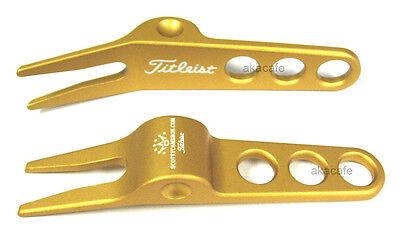 Titleist Scotty Cameron GOLD Golf Divot Tool - New !
