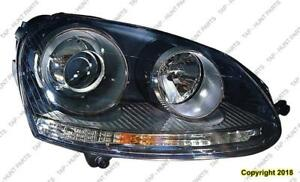 Head Lamp Passenger Side (Xenon) High Quality Volkswagen Jetta 2005-2010