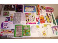 ARTS CRAFT BUNDLE: Jewellery Making Set, Colouring, Activity, Unicorn Scratch, Stamp, Mask, Mr Maker