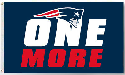 New England Patriots team flag ONE MORE 90x150cm 3x5ft best banner 100D