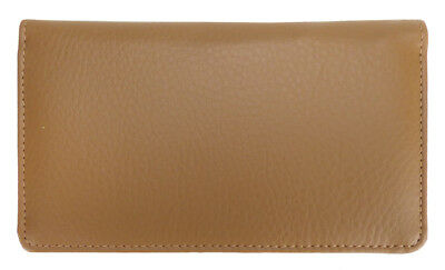 Tan Leather Checkbook Cover