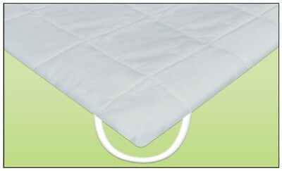 QUILTED ANCHOR BAND FREEFLOW WAVELESS WATERBED MATTRESS PAD Anchor Band Mattress Pad