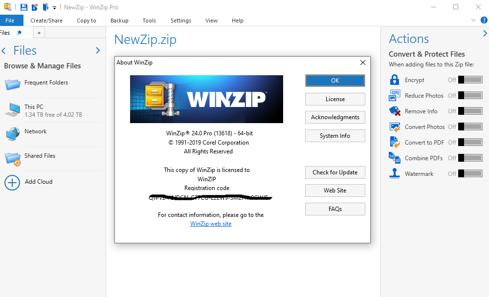 как выглядит Corel Winzip Pro 24  Official License  Windows for 5 PC  Instant Downlod фото