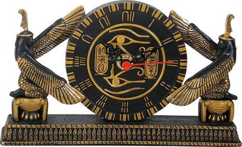 Ancient Egyptian Hieroglyphic Design Desk Clock Home Decoration Egypt New