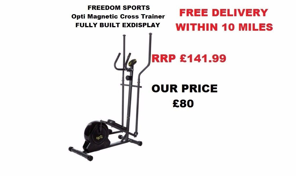 Opti Magnetic Cross Trainer Fully Built Exdisplay RRp £141.99 FREE DELIVERY WITHIN 10 MILES
