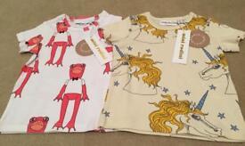 BNWT Mini Rodini tshirts size 9-18 months