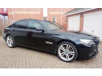 BMW 730d 3.0 M-Sport - Black Sapphire Metallic with Black Dakota Leather Interior