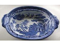 Blue Willow Pattern Dish
