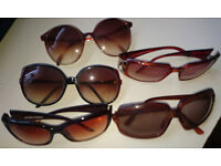 Five pairs of sunglasses (price is for all 5 pairs)