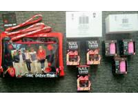 One Direction set of 3 bags ,3 Nail crush, 3 Cheek tint pink Exposion
