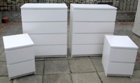 SOLD - THANKS for LOOKING. IKEA - 2 X Chest of Drawers, AND 2 x Bedside Cabinets