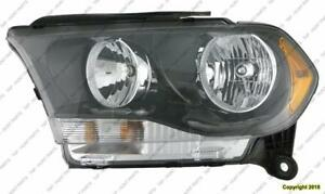 Head Lamp Driver Side Halogen Black Trim High Quality Dodge Durango 2011-2013