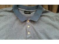 PAUL SMITH 100% cotton striped polo shirt Blue - XXL