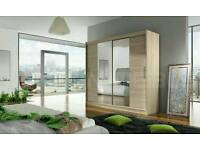 BRAND NEW 180cm Wide Two Sliding Doors Wardrobe with Mirror